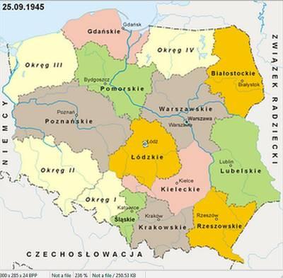 Województwo Gdańskie w dniu 25.09.1945