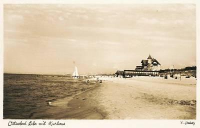 Plaża wschodnia w Łebie (1938)