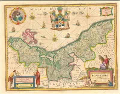 Mapa Księstwa Pomorskiego Joannesa Janssoniusa z 1633 r.